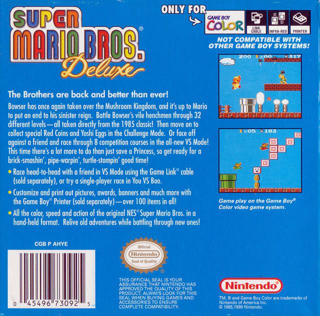Super Mario Bros Deluxe Usa Europe Rom