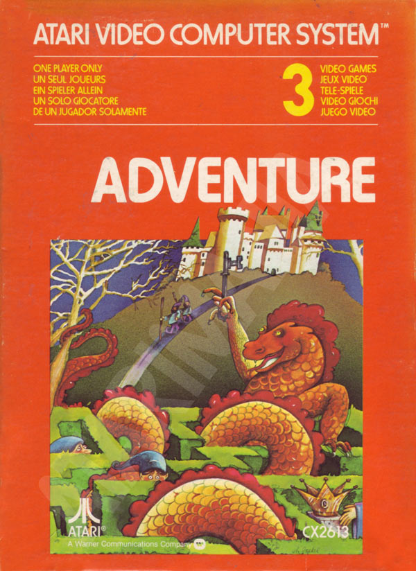 Adventure 1980 Atari Warren Robinett Sears Cx2613