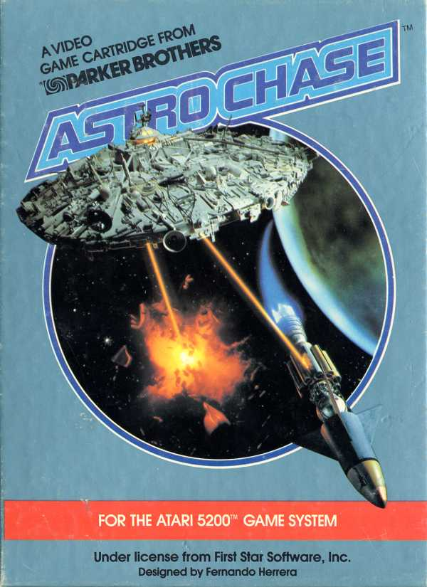 Astro Chase (1982) (Parker Bros First Star Software) Box Scan - Front