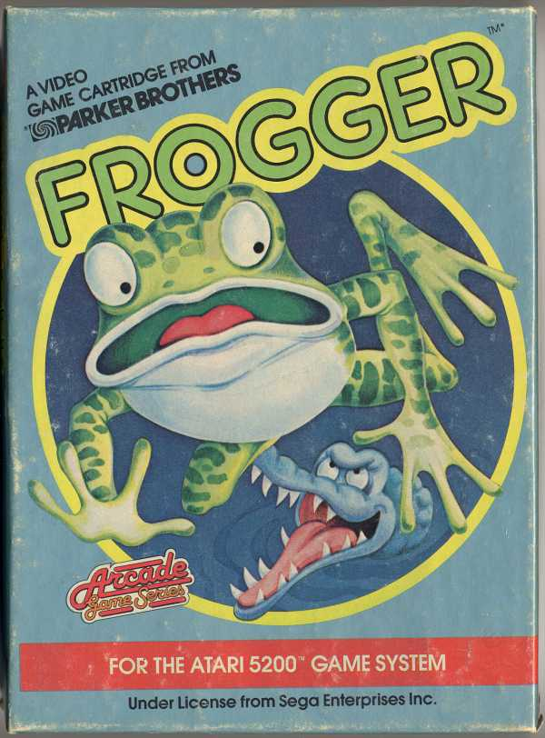 Frogger (1983) (Parker Bros) Box Scan - Front