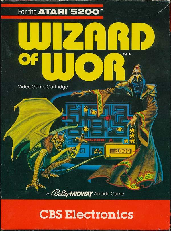Wizard of Wor (1982) (CBS) Box Scan - Front