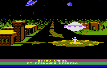 Astro Chase (1982) (Parker Bros First Star Software) Screenshot