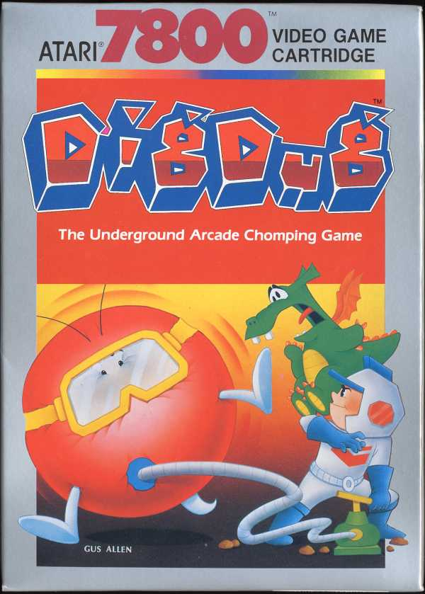 Dig Dug Box Scan - Front