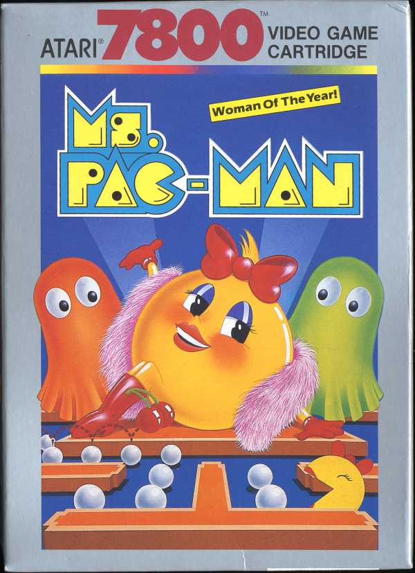 Ms Pac-Man Box Scan - Front