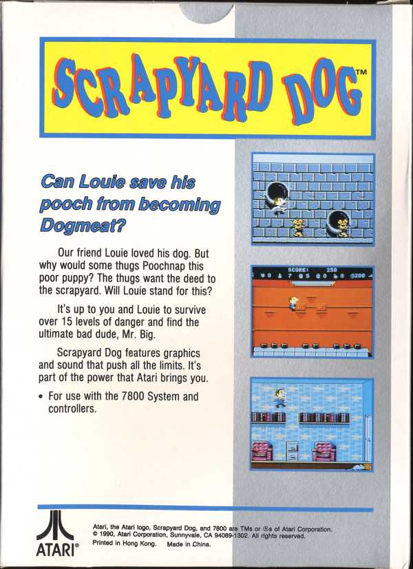 Scrapyard Dog Box Scan - Back