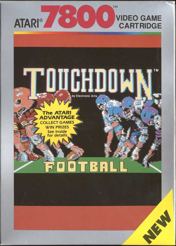 Touchdown Football Box Scan - Front