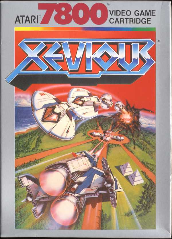 Xevious Box Scan - Front
