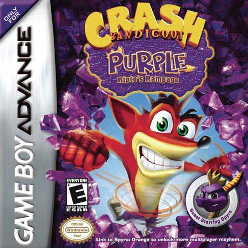 Crash Bandicoot - Purple Ripto's Rampage (U)(Venom) Box Art