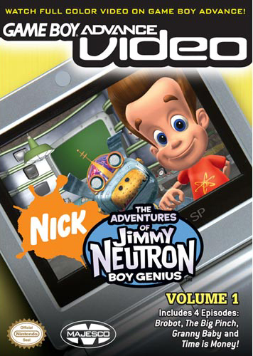 The Adventures of Jimmy Neutron Volume 1 - Gameboy Advance Video (U)(Psychosis) Box Art