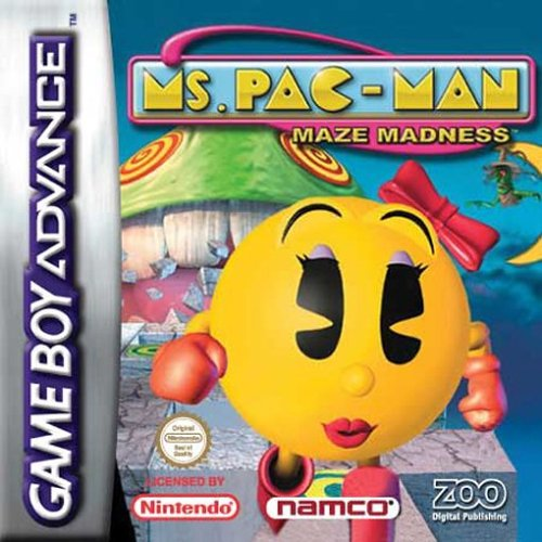 Ms. Pac-Man Maze Madness (E)(Rising Sun) Box Art