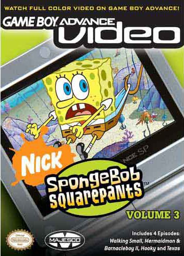 SpongeBob SquarePants Volume 3 - Gameboy Advance Video (U)(Supplex) Box Art