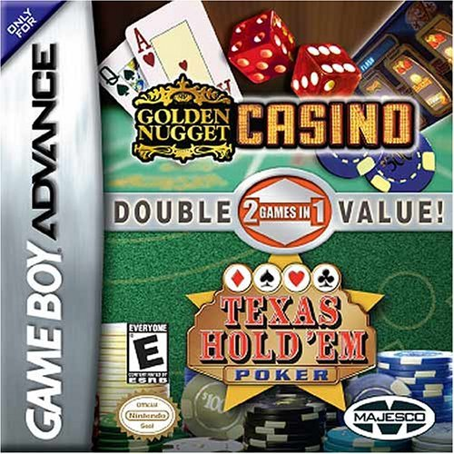 2 in 1 - Golden Nugget Casino & Texas Hold'em Poker (U)(Rising Sun) Box Art