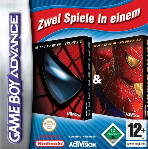 2 in 1 - Spider-Man & Spider-Man 2 (E)(Rising Sun) Box Art