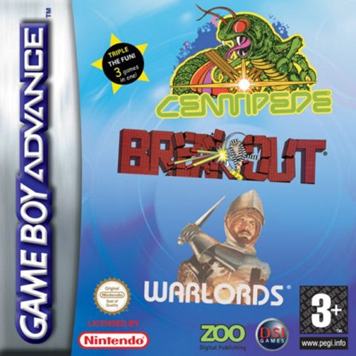 Centipede, Breakout, Warlords (E)(Supplex) Box Art