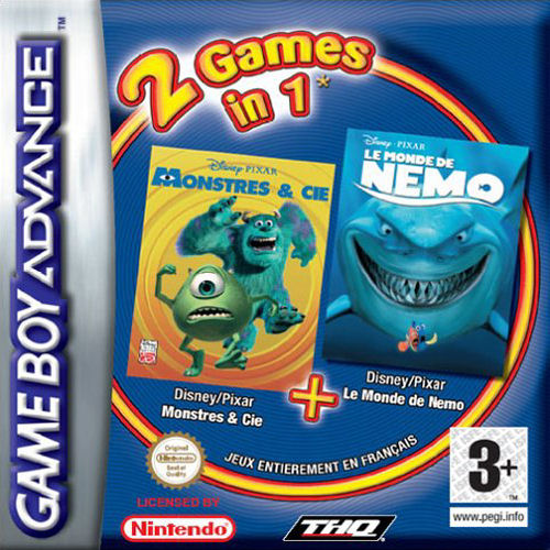 2 in 1 - Monstres & Cie & Le Monde de Nemo (F)(Eternity) Box Art