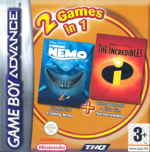 2 in 1 - Finding Nemo & The Incredibles (E)(Independent) Box Art