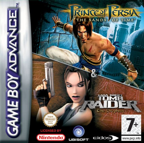 2 in 1 - Prince of Persia - The Sands of Time & Tomb Raider - The Prophecy (E)(Independent) Box Art