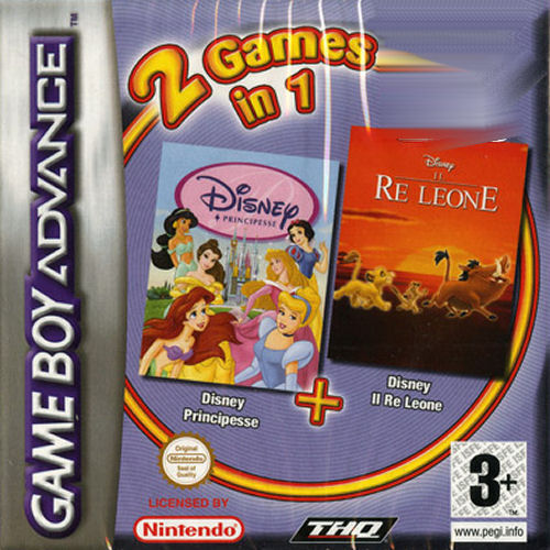 2 in 1 - Disney Principesse & Il Re Leone (I)(Independent) Box Art