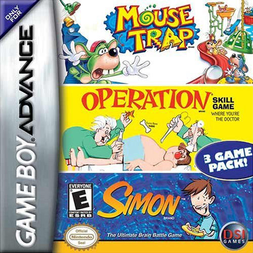 3 in 1 - Mousetrap & Simon & Operation (U)(Independent) Box Art