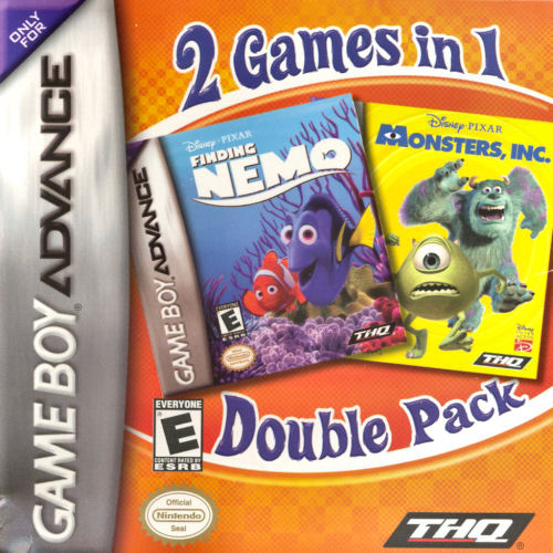 2 in 1 - Finding Nemo & Monsters Inc. (U)(Sir VG) Box Art