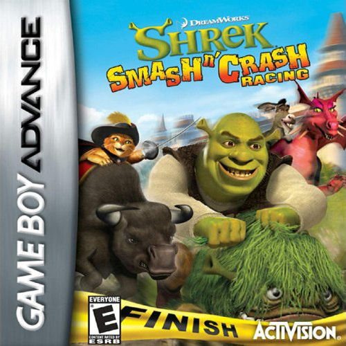 Shrek - Smash n' Crash Racing (U)(Rising Sun) Box Art