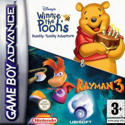 2 in 1 - Winnie the Pooh's Rumbly Tumbly Adventure & Rayman 3 (E)(Independent) Box Art