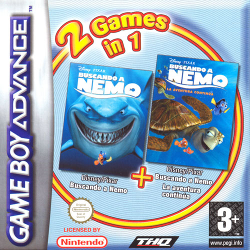 2 in 1 - Finding Nemo & Finding Nemo - The Continuing Adventures (E)(Independent) Box Art