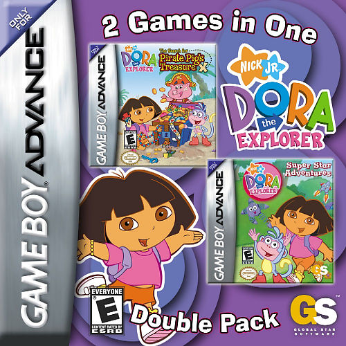 2 in 1 - Dora the Explorer - Pirate Pig's Treasure & Super Star Adventures (U)(Sir VG) Box Art