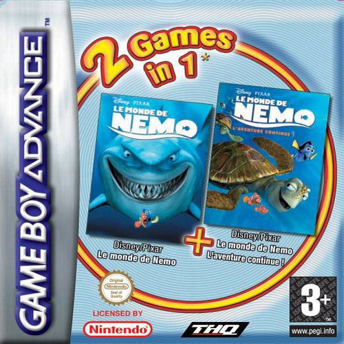 2 in 1 - Finding Nemo & Finding Nemo The Continuing Adventures (E)(Independent) Box Art
