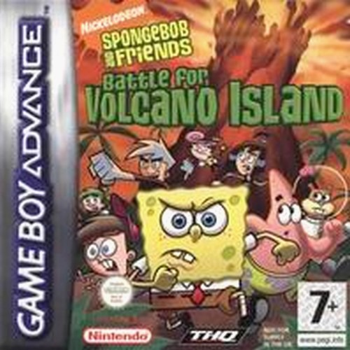 SpongeBob SquarePants and Friends - Battle for Volcano Island (E)(LightForce) Box Art