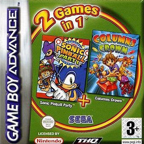 2 in 1 - Sonic Pinball Party & Columns Crown (E)(Independent) Box Art