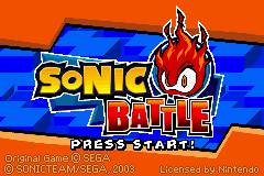 2 in 1 - Sonic Advance & Sonic Battle (E)(Rising Sun) Snapshot