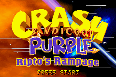 2 in 1 - Crash Bandicoot Purple - Ripto's Rampage & Spyro Orange - The Cortex Conspiracy (U)(Independent) Snapshot