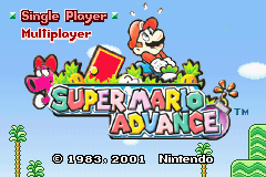 Super Mario Advance (U)(Eurasia) Title Screen
