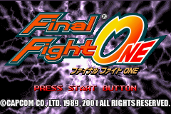 Final Fight One (J)(Eurasia) Title Screen