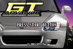 GT Advance - Championship Racing (U)(The Corporation) Title Screen