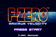 F-Zero - Maximum Velocity (U)(Mode7) Title Screen