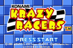 Konami Krazy Racers (E)(Cezar) Title Screen
