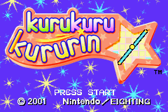 Kuru Kuru Kururin (E)(Mode7) Title Screen