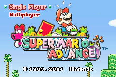 Super Mario Advance (E)(Cezar) Title Screen
