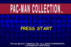 Pac-Man Collection (U)(Mode7) Title Screen