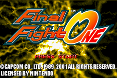 Final Fight One (E)(Paracox) Title Screen