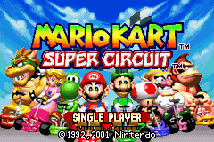 Mario Kart - Super Circuit (U)(Inferno) Title Screen