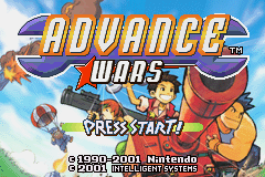 Advance Wars (U)(Mode7) Title Screen