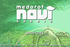Medarot Navi - Kabuto Version (J)(Eurasia) Title Screen