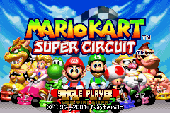 Mario Kart - Super Circuit (E)(Cezar) Title Screen