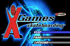 ESPN X-Games - Skateboarding (U)(Mode7) Title Screen