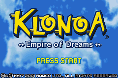 Klonoa - Empire of Dreams (U)(Mode7) Title Screen