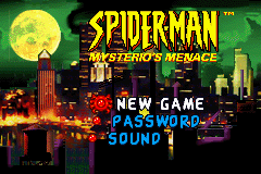 Spider-Man - Mysterio's Menace (U)(Mode7) Title Screen