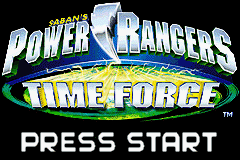 Power Rangers - Time Force (U)(Mode7) Title Screen